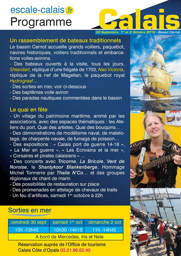 Document programme Escale à Calais 2016 Verso